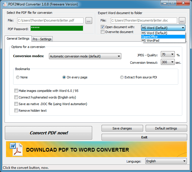 download convert pdf to word